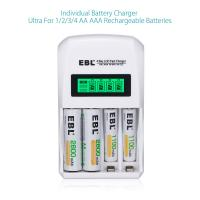 EBL LCD Smart AA AAA Rechargeable Battery Charger for Ni-MH Ni-CD Battery