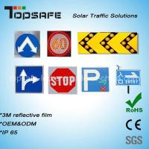 Buy cheap Aluminum Flashing Solar LED Traffic Warning Sign LED Display product