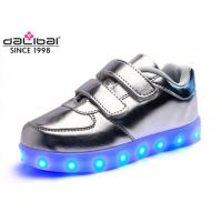 Buy cheap Magical Strap Silver Childrens LED Shoes Running Luminous Lighting Sneakers product