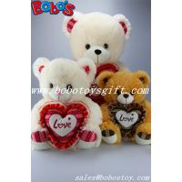 "Quality 2014 Hot Sale 12"" Corporate gift Brown Stuffed Teddy Bear With Heart Pillow for sale"