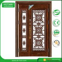 Buy cheap outside door house main gate designs metal security door residential steel door product