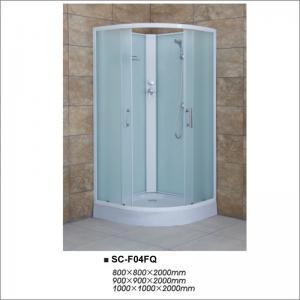 Buy cheap Fabric Glass Quadrant Shower Enclosures , Sliding Door Shower Room 900*900*2000mm product
