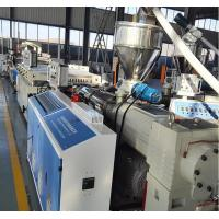 Buy cheap Full Automatic WPC Board Production Line , Wood Plastic Extruder product