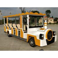 Buy cheap cartoon electric sightseeing car 14 seats Size 5710*1590*2160mm power  72v7.5kw product