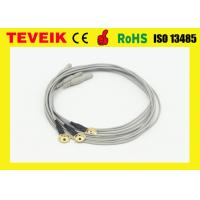 China Waterproof 1 Meter Gold Plated Copper Electrode EEG Cable With DIN 1.5 Socket wholesale