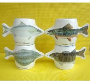 Export 9179fish ceramic mug custom LOGO coffee mark cup