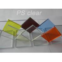 Buy cheap Indoor Clear Polystryrene Plastic Sign Board Heat / Electronically Resistant product