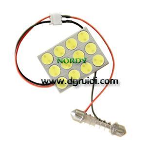 Buy cheap Led dome led light interior reading bulb led 12pcs 0.5W high power LED 6W car top lighting Wedge Festoon BA9S product