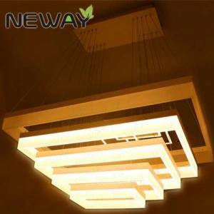 Buy cheap bright white rectangle led pendant light 1100x678 920x560 740x438 560x318 380x198MM led rectangle suspension light product