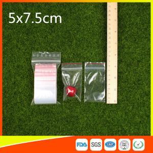 Buy cheap Le zip-lock transparent d'emballage met en sac le casse-croûte et la sucrerie en plastique rescellables product