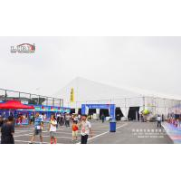 Buy cheap Temporary Large 40m Metal Frame White PVC Marquee Tent Hall for Exhibition Trade Fair product