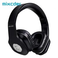 AUSDOM Mixcder Cheap On Ear Large Button Foldable Stereo Headband Handsfree Light Bluetooth Headphones With Microphone