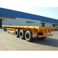 China 3 axles 40ft container semi trailer flatbed trailer discount on sale