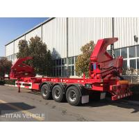 China 37 ton 40ft  Container Side Loader Trailer , Self Loading Container Trailer on sale