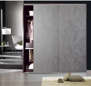Buy cheap CY-KW510F Plate Type Particle Board Interior Wardrobe Sliding Door, Aluminum Frame Panel Closet Door Factory product