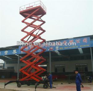 Buy cheap 6 - 18m diesel mobile scissor lift platform for 500kg 800kg 1000kg Load capacity product