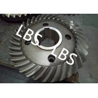 Buy cheap Steel Spiral Bevel Double Helical Gear Shaft Polishing Anodic Oxidation product