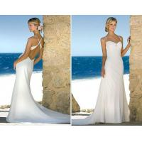 China 2011 new style sexy low back beach bridal gowns on sale
