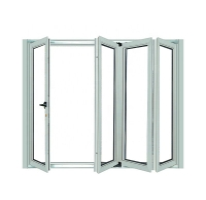 Buy cheap Thermal Break aluminium glass folding doors Vertical Anodized Powder Coated product