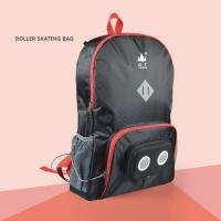Buy cheap Roller skating Backpack With Built In Speakers Black with red edge LH03 product