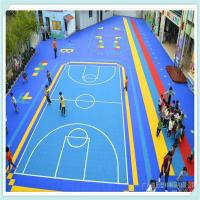 China plastic outdoor basketball court floor on sale
