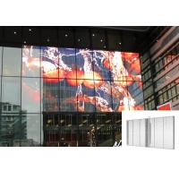 Quality Transparent LED Screen See Through Indoor Fixed Shopping Mall Advertising Panel for sale