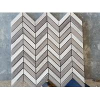 Buy cheap White Arrows Marble Mosaic Tile For Hotel / Restaurant Bathroom Wall product