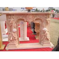 Buy cheap Angel Sculpture Marble Stone Fireplace product