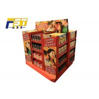 Buy cheap Innovative Two - Sides Cardboard Pallet Display , Chocolate Pallet Retail Display With Shelves product