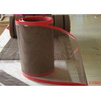 Quality High Temperature Resistant Open Fiberglass PTFE Mesh Edge Reinforced Non Sticky for sale