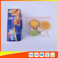 Buy cheap PE Transparent Plastic Snack Bags With Zipper , Reusable Snack And Sandwich Bags product