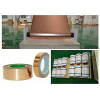 Buy cheap SGS Red Electrodeposited Copper Foil , 99.95% Purity Copper Shielding Tape product