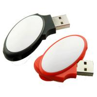 Buy cheap Oval Shaped  4gb Usb Swivel Flash Drive  USB2.0 Plastic Material  51*20*10mm product