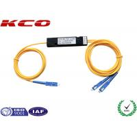 Buy cheap 2.0mm SM FBT Coupler Single Mode 1*2 Fused Fiber Optic Splitter With SC / UPC Connector product
