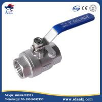 Buy cheap High quality 2 pcs thread connection flat lever handle cf8m stainless steel water gas ball valve product