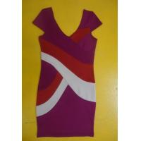 Buy cheap Bodycon Workwear V Neck Short Sleeve Dress , Color Block Shift Dress For Work product