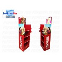 Buy cheap LED Lighting Poster POS Shelf Display Stands 4 Shelving Holding Strength 100KGS For Milk product