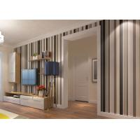 Buy cheap Commercial Contemporary Wall Coverings with Wide and Narrow Stripes , PVC Wallpaper product