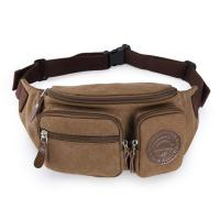 Buy cheap Mens Three Pockets Canvas Waterproof Fanny Pack Waist Bags With Adjustable Strap product