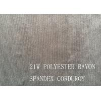 Buy cheap 90%P 8%N 2%SP 21W POLYESTER RAYON SPANDEX CORDUROY FOR COAT product