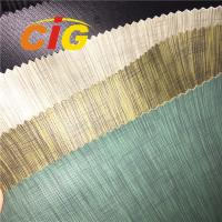 Buy cheap 0.6mm - 1.2mm Thick Linen PVC Artificial Leather For Sofa / Car Seat from wholesalers