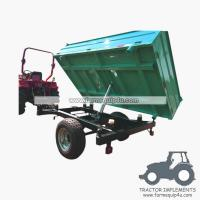 Buy cheap 4TR3WT - 3-Way Dump Trailer Agriculture trailer with handbrake Loading capacity 4Ton product