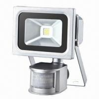 Buy cheap 10W LED Floodlight with Sense Switch, High Lumen Output and IP65 Protection Degree for Outdoor Use product