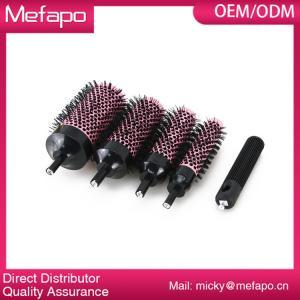 China Round Plastic Nylon Brush Detachable Ceramic Ionic Hair Brush wholesale