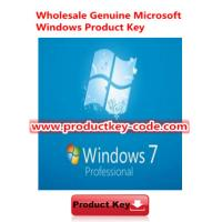 China  Original Windows 7 Product Key Codes, Microsoft Windows 7 Professional OEM Online Activate Key  for sale