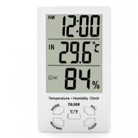 Buy cheap TA308 Digital LCD Temperature Humidity Meter with Clock Household Thermometer product
