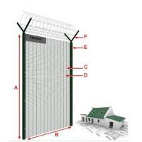 """china products 4mm wire 3""""*1/2"""" hole 2m 2.5m 3m high 358 security fencing, anti climb fence price"""