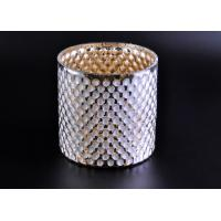 Buy cheap Create Diamond Shining Votive Glass Candle Holder With Woven Pattern product