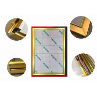 Buy cheap Jewelry Display Advertising Light Box Picture Frame, Gold Color Led Poster Light Box product