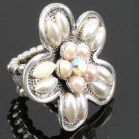 Buy cheap Ring, Made of Alloy with White Pearls, Customized Designs and Logos are Accepted product